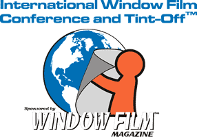 Window Film Magazine's logo for the International Window Film Conference and Tint-Off