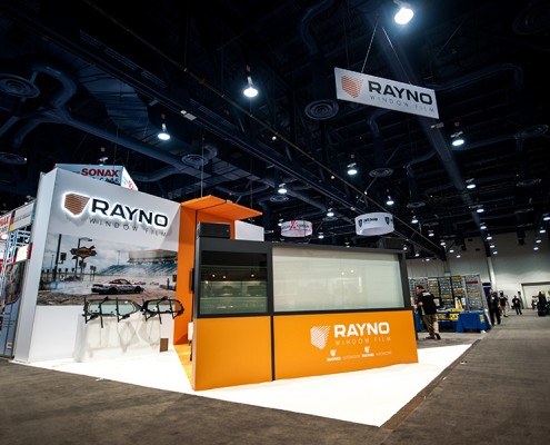 The Rayno Window Film booth at the 2014 SEMA Show