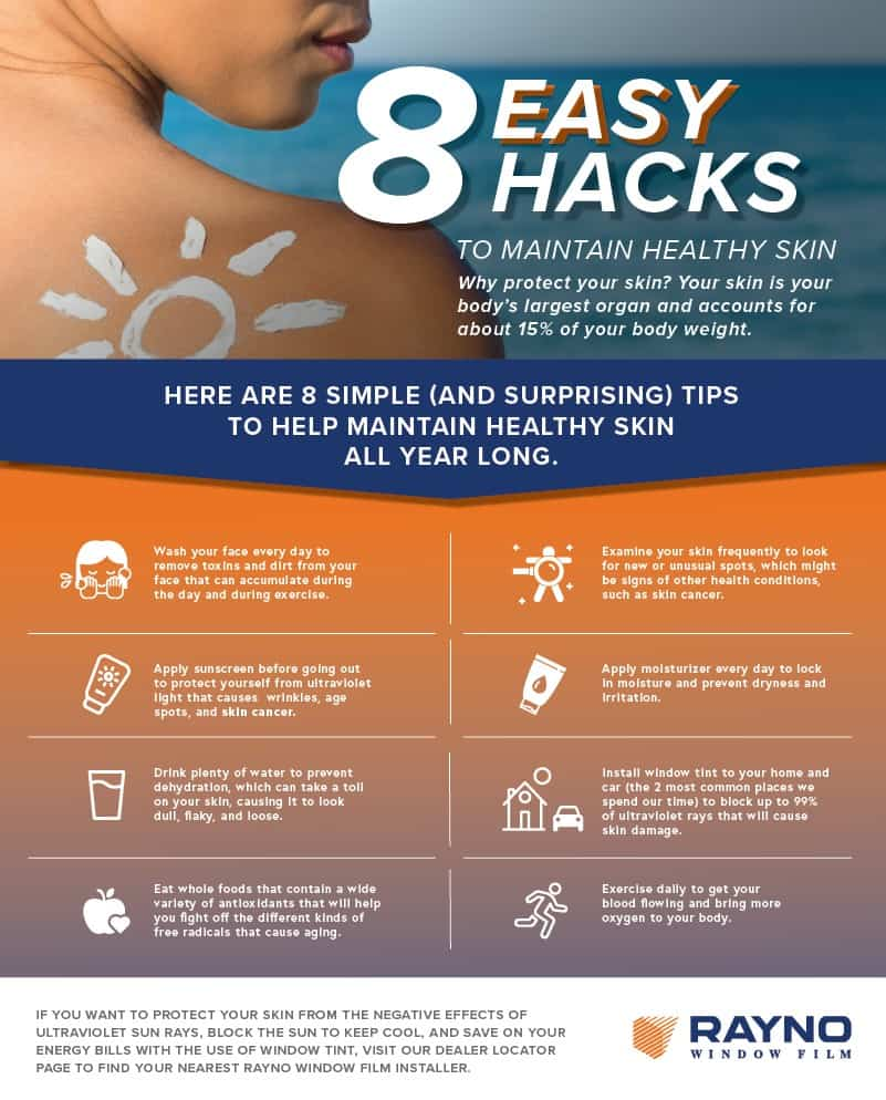 8 Easy Hacks To Maintain Healthy Skin Inforgraphic